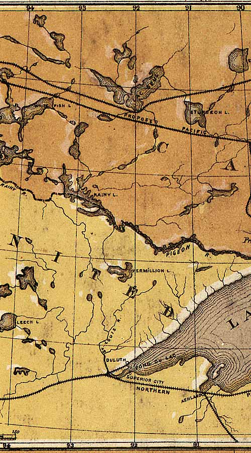 Section A10 of Map of Ontario (1874)