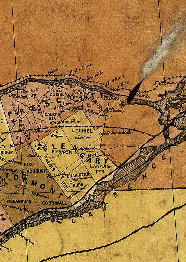 Section B11 of Map of Ontario (1874)