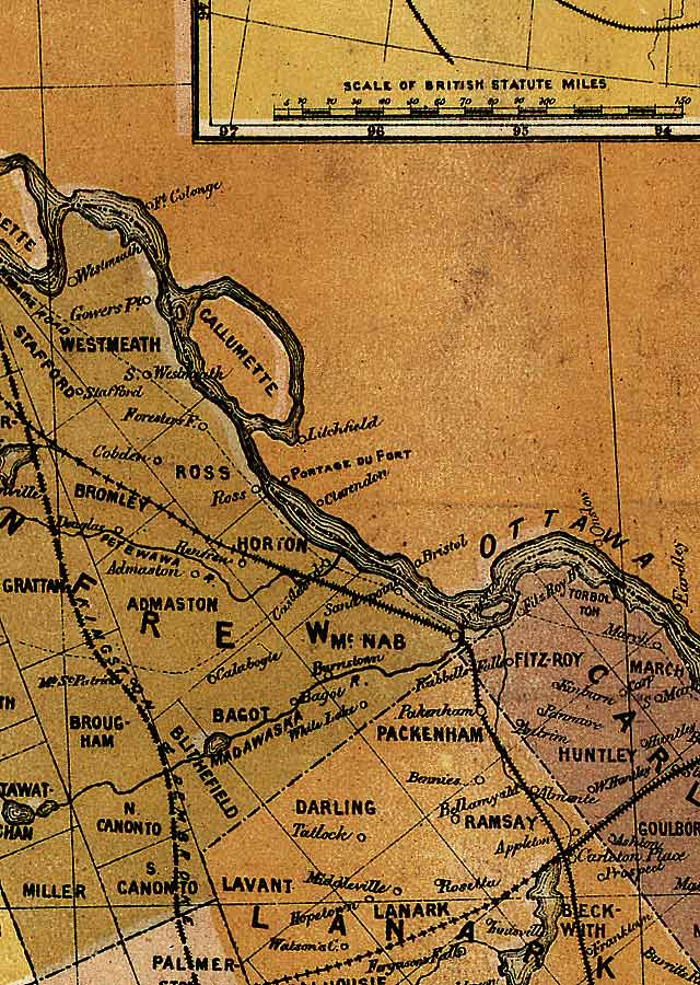 Section B9 of Map of Ontario (1874)
