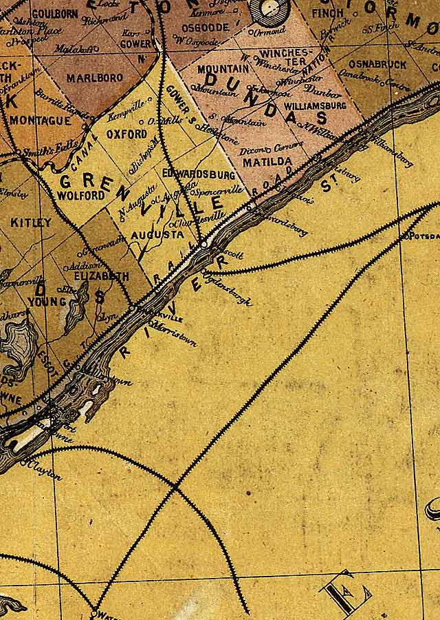 Section C10 of Map of Ontario (1874)