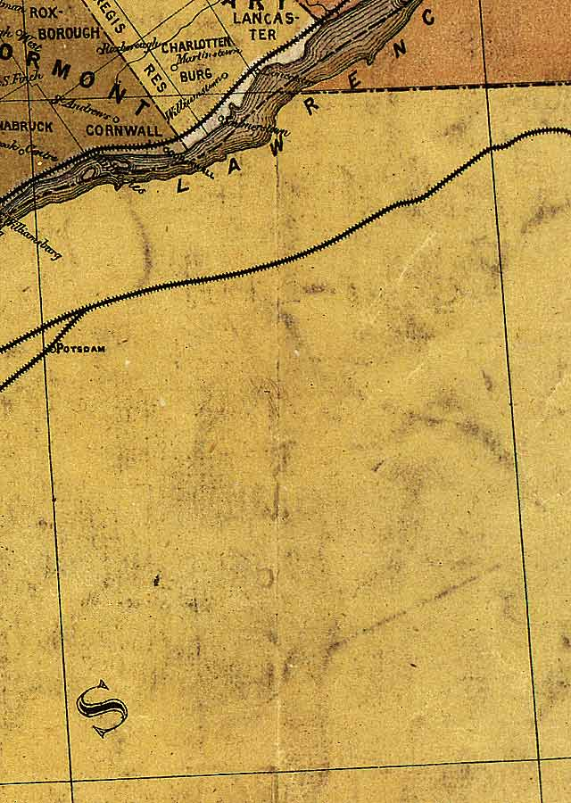 Section C11 of Map of Ontario (1874)