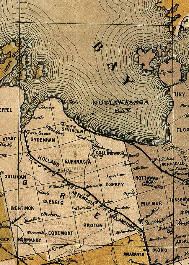 Section C5 of Map of Ontario (1874)