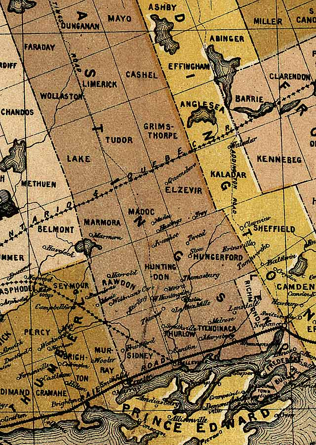 Section C8 of Map of Ontario (1874)