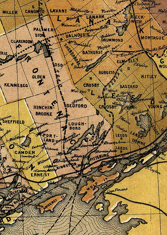 Section C9 of Map of Ontario (1874)