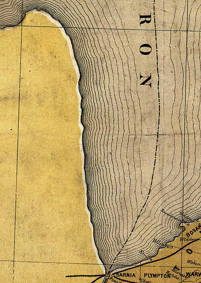 Section D3 of Map of Ontario (1874)