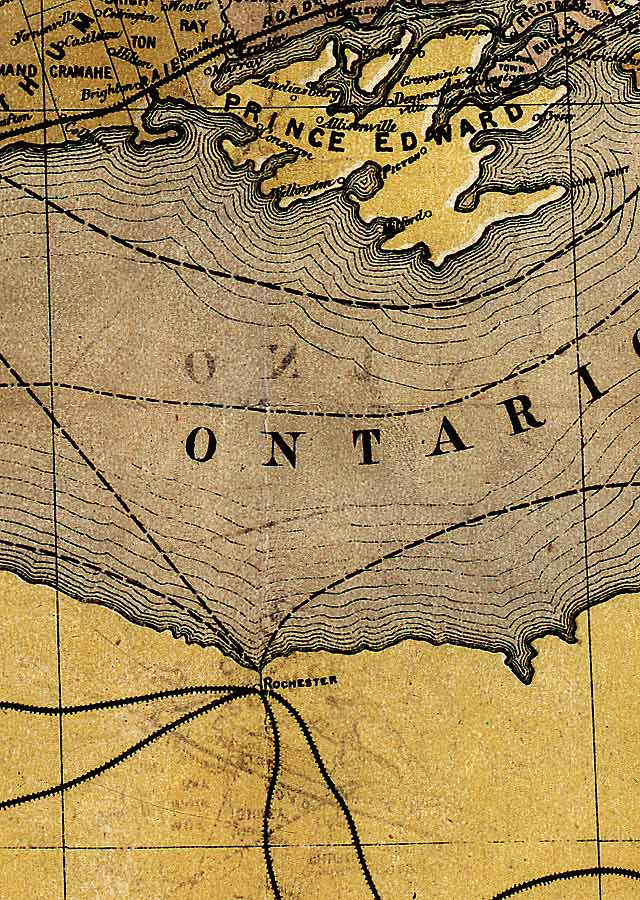Section D8 of Map of Ontario (1874)