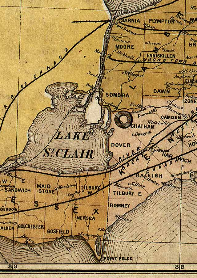 Section E3 of Map of Ontario (1874)