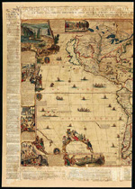 Map of the Americas by Nicolas de Fer, 1698. Left section