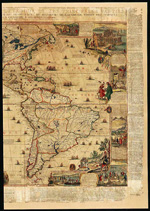 Carte des Am&#233;riques (section droite), par Nicholas de Fer, 1698