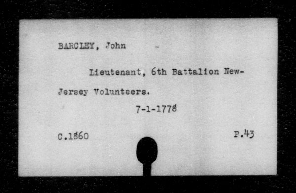 Title: British Military and Naval Records (RG 8, C Series) - INDEX ONLY - Mikan Number: 105012 - Microform: c-11793