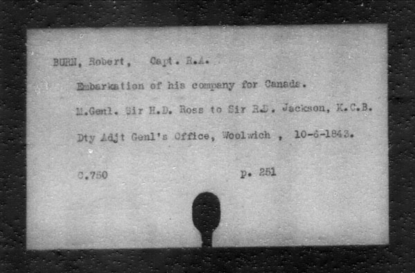 Title: British Military and Naval Records (RG 8, C Series) - INDEX ONLY - Mikan Number: 105012 - Microform: c-11798