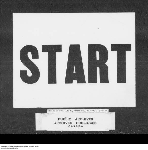 Title: School Files Series - 1879-1953 (RG10) - Mikan Number: 157505 - Microform: c-7937
