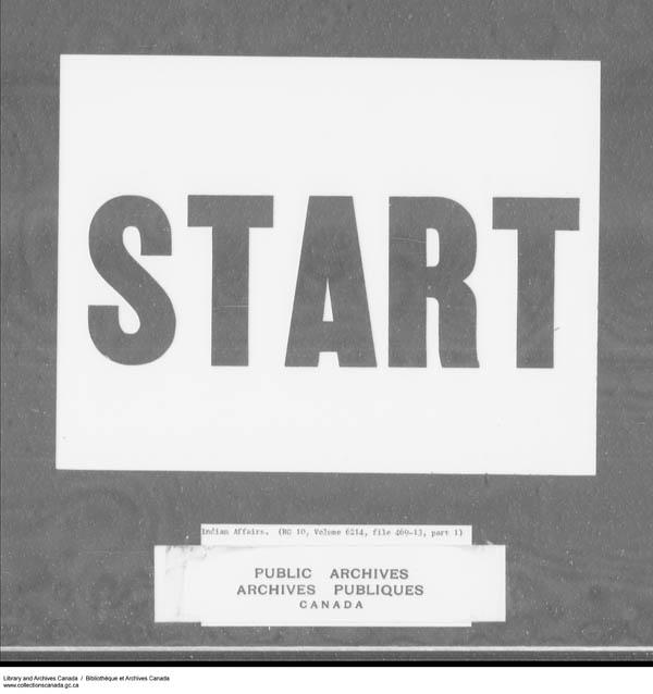 Title: School Files Series - 1879-1953 (RG10) - Mikan Number: 157505 - Microform: c-7944
