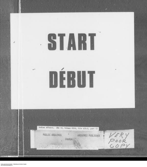 Title: School Files Series - 1879-1953 (RG10) - Mikan Number: 157505 - Microform: c-7948