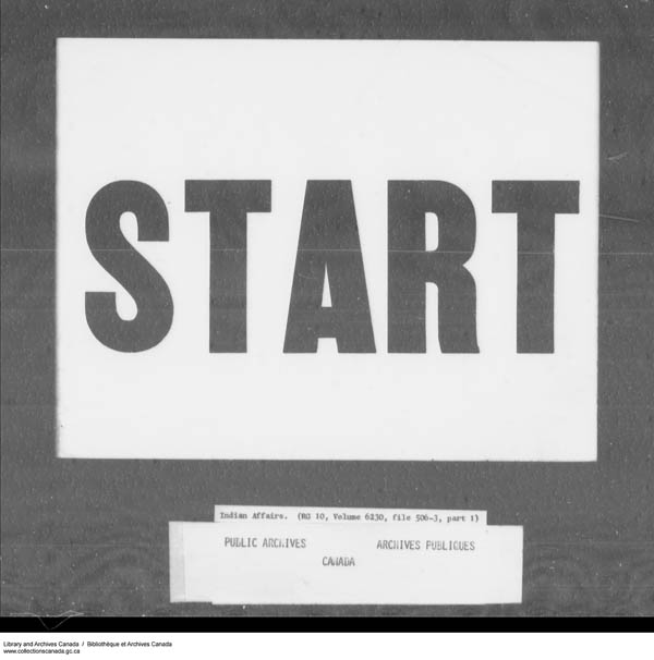 Title: School Files Series - 1879-1953 (RG10) - Mikan Number: 157505 - Microform: c-7955