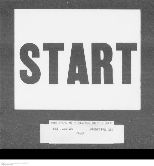 Title: School Files Series - 1879-1953 (RG10) - Mikan Number: 157505 - Microform: c-7958