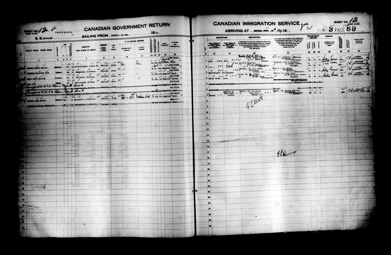 Title: Passenger Lists: Quebec City (1925-1935) - Mikan Number: 134839 - Microform: t-14722