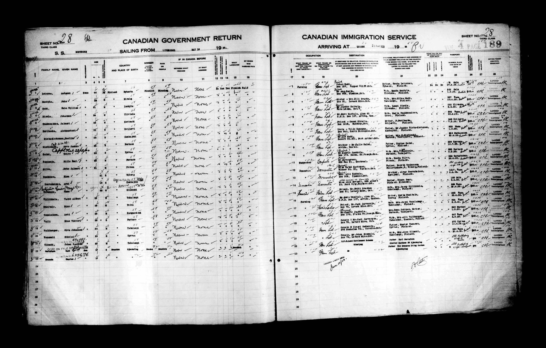 Titre: Listes de passagers : Ville de Québec (1925-1935) - N° d'enregistrement Mikan: 178851 - Microforme: t-14722