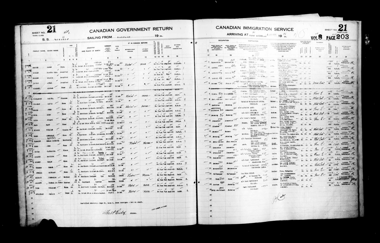 Titre: Listes de passagers : Ville de Québec (1925-1935) - N° d'enregistrement Mikan: 178851 - Microforme: t-14723