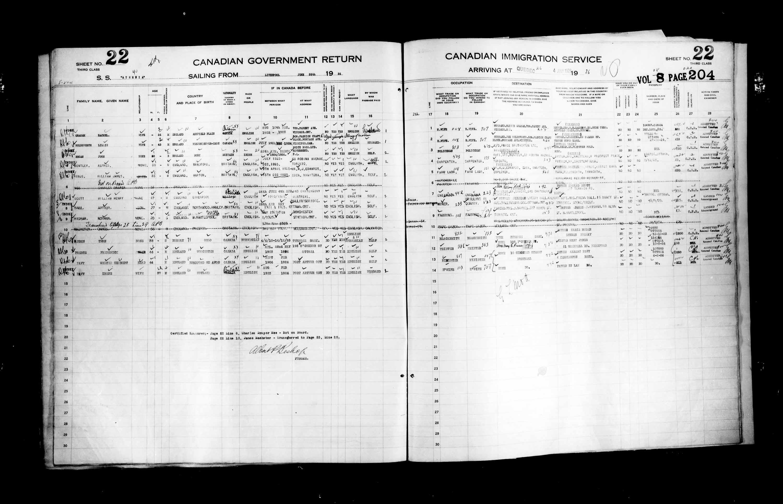 Titre: Listes de passagers : Ville de Québec (1925-1935) - N° d'enregistrement Mikan: 178851 - Microforme: t-14724