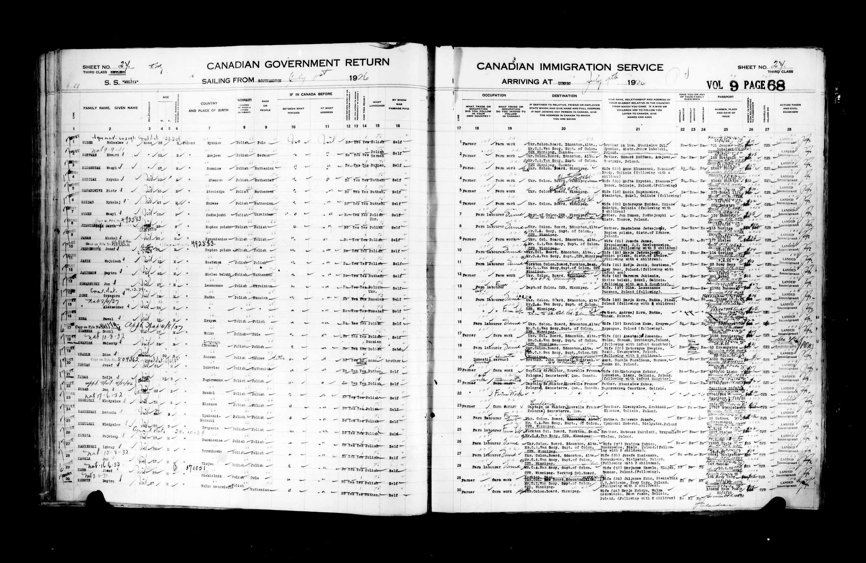 Title: Passenger Lists: Quebec City (1925-1935) - Mikan Number: 134839 - Microform: t-14724