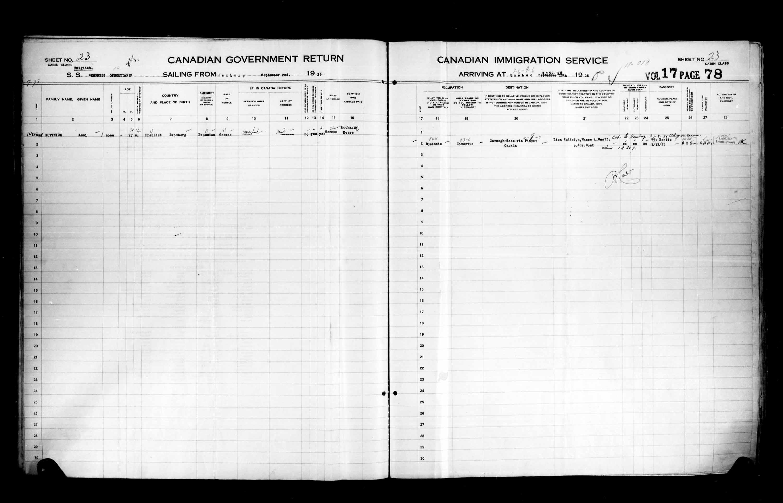 Title: Passenger Lists: Quebec City (1925-1935) - Mikan Number: 134839 - Microform: t-14727
