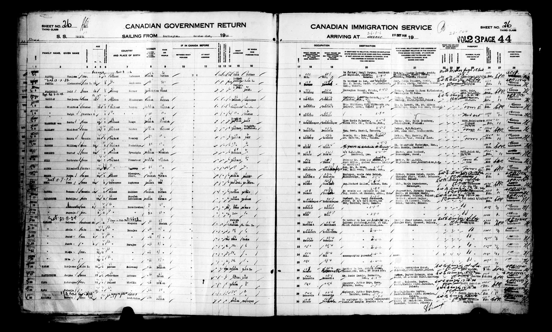 Titre: Listes de passagers : Ville de Québec (1925-1935) - N° d'enregistrement Mikan: 178851 - Microforme: t-14729