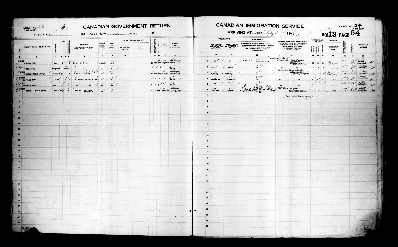 Title: Passenger Lists: Quebec City (1925-1935) - Mikan Number: 134839 - Microform: t-14735