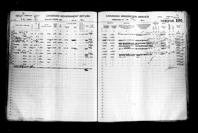 Titre: Listes de passagers : Ville de Québec (1925-1935) - N° d'enregistrement Mikan: 178851 - Microforme: t-14758