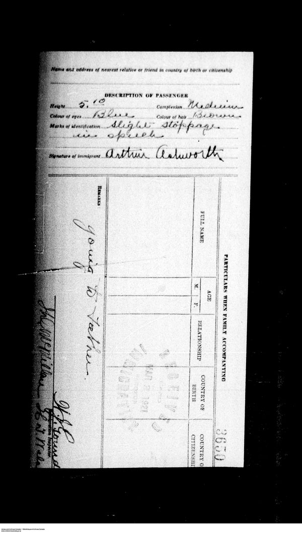 Title: Border Entry, Form 30, 1919-1924 - Mikan Number: 161377 - Microform: t-15252