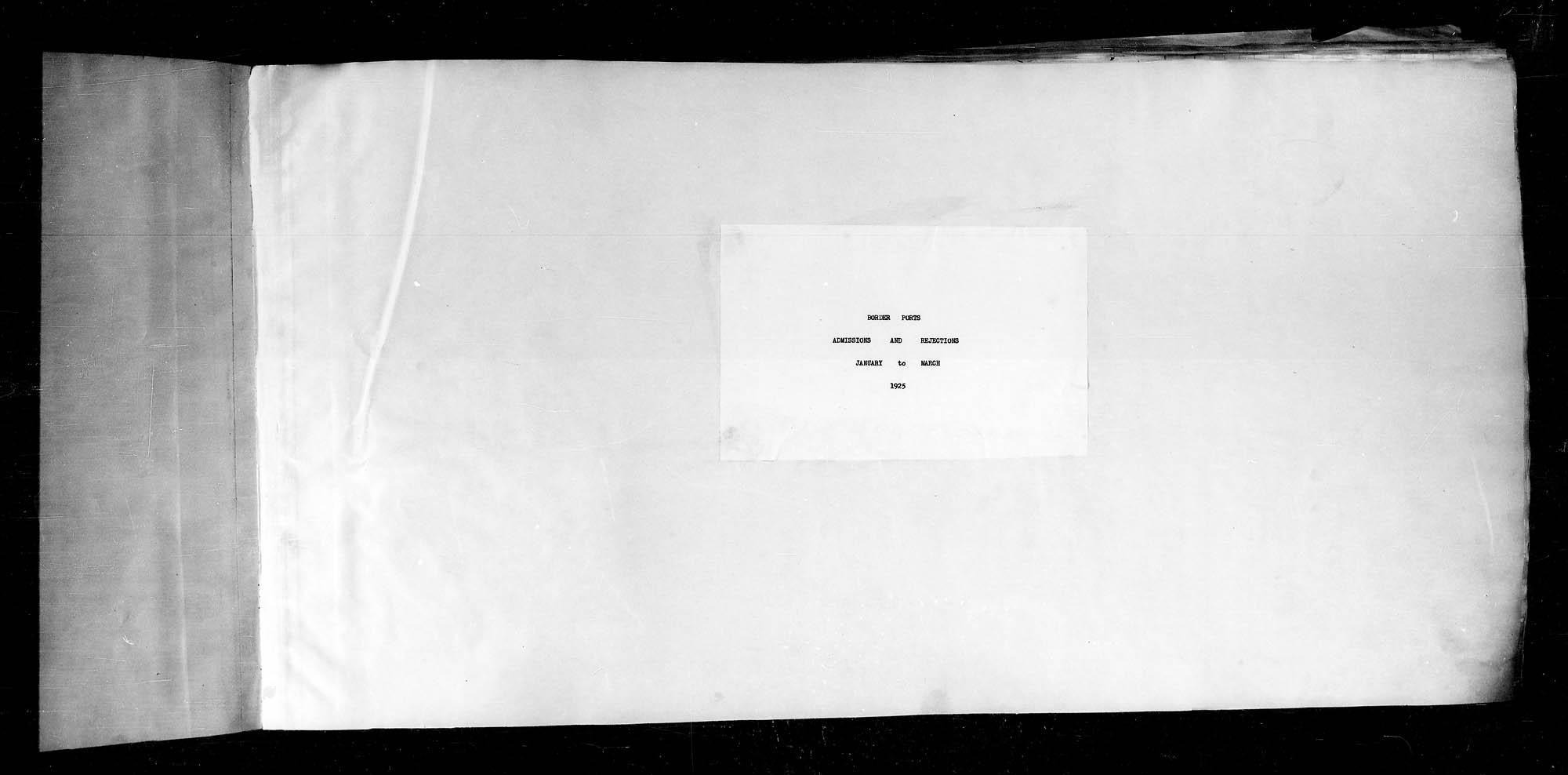 Titre: Arrivées par la frontière, 1925-1935 - N° d'enregistrement Mikan: 179161 - Microforme: t-15346