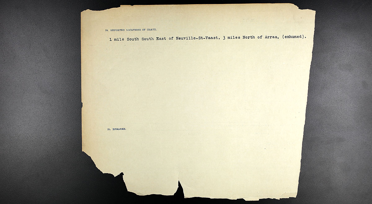 Title: Circumstances of Death Registers, First World War - Mikan Number: 46246 - Microform: 31829_B016713