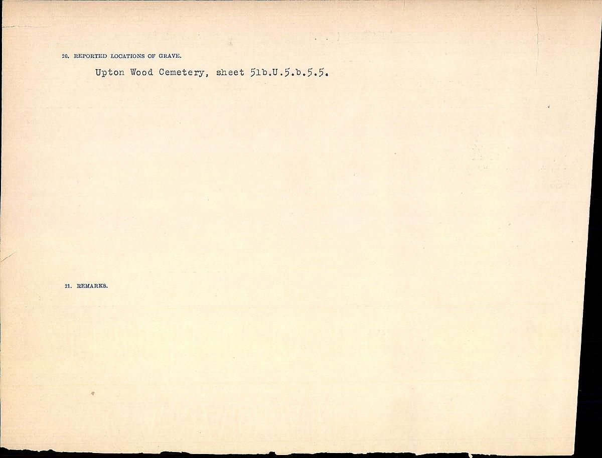 Titre: Registres de circonstances du décès, Première Guerre mondiale - N° d'enregistrement Mikan: 46246 - Microforme: 31829_B034747