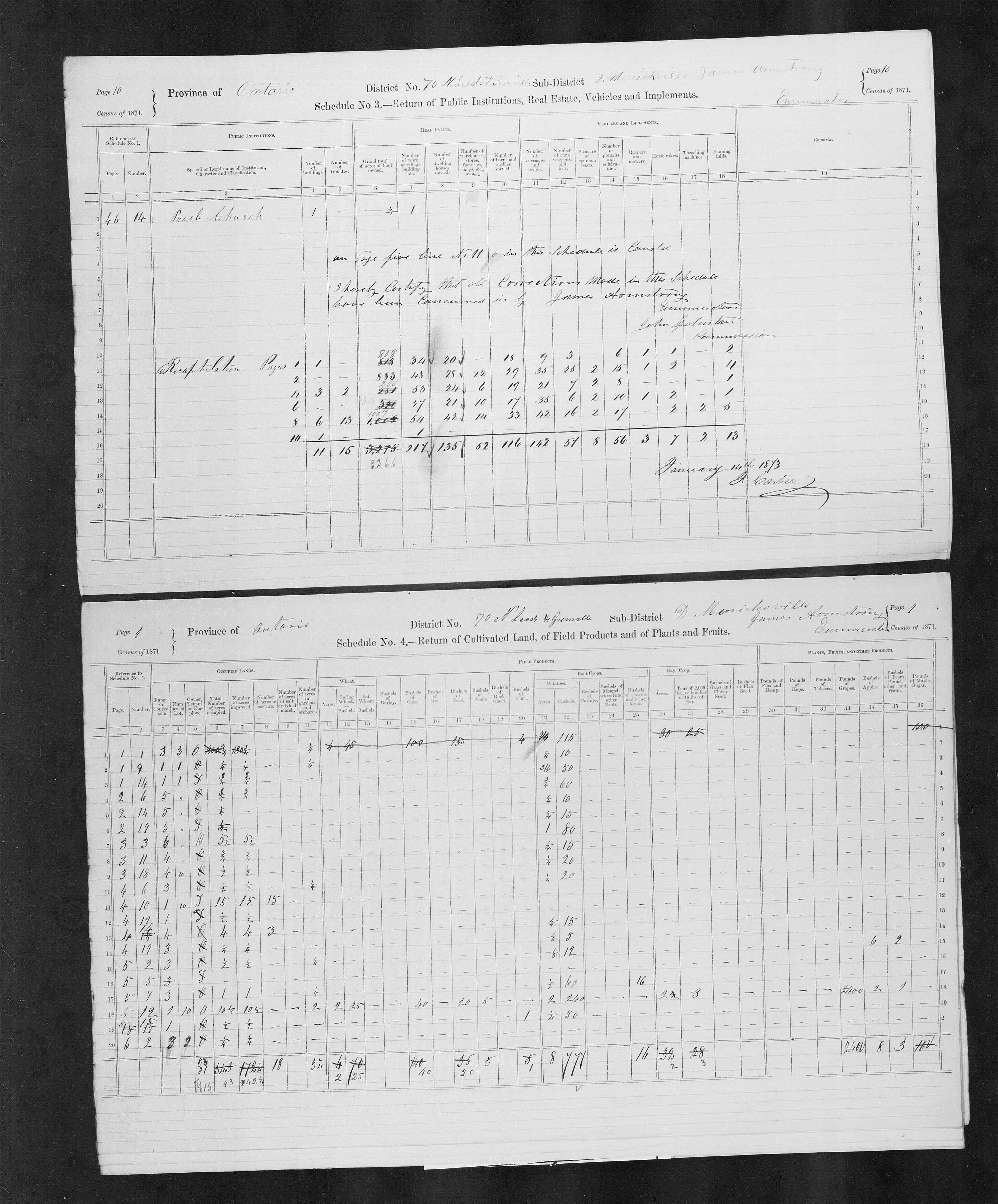 Title: Census of Canada, 1871 - Mikan Number: 142105 - Microform: c-10005