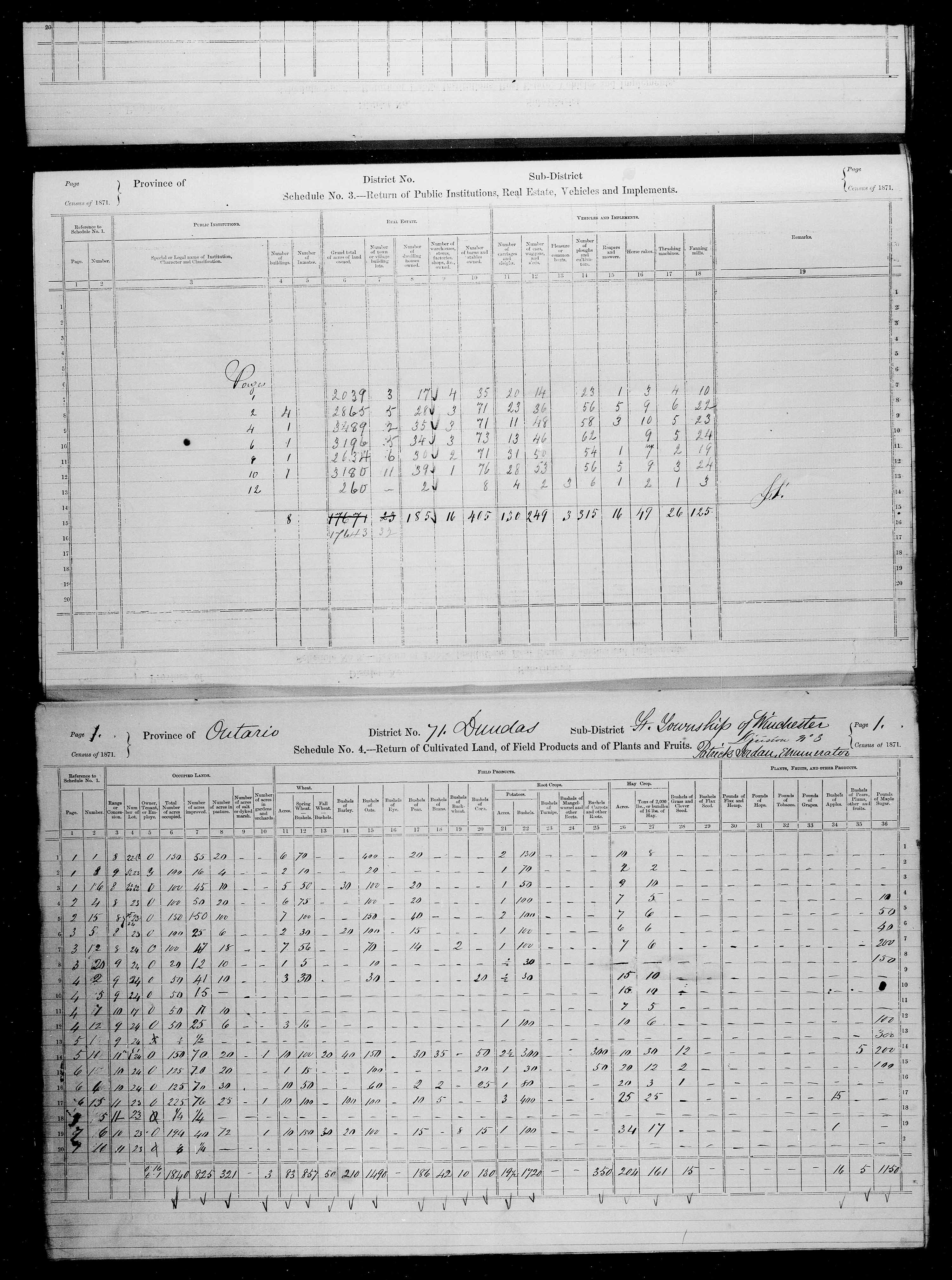 Title: Census of Canada, 1871 - Mikan Number: 142105 - Microform: c-10007