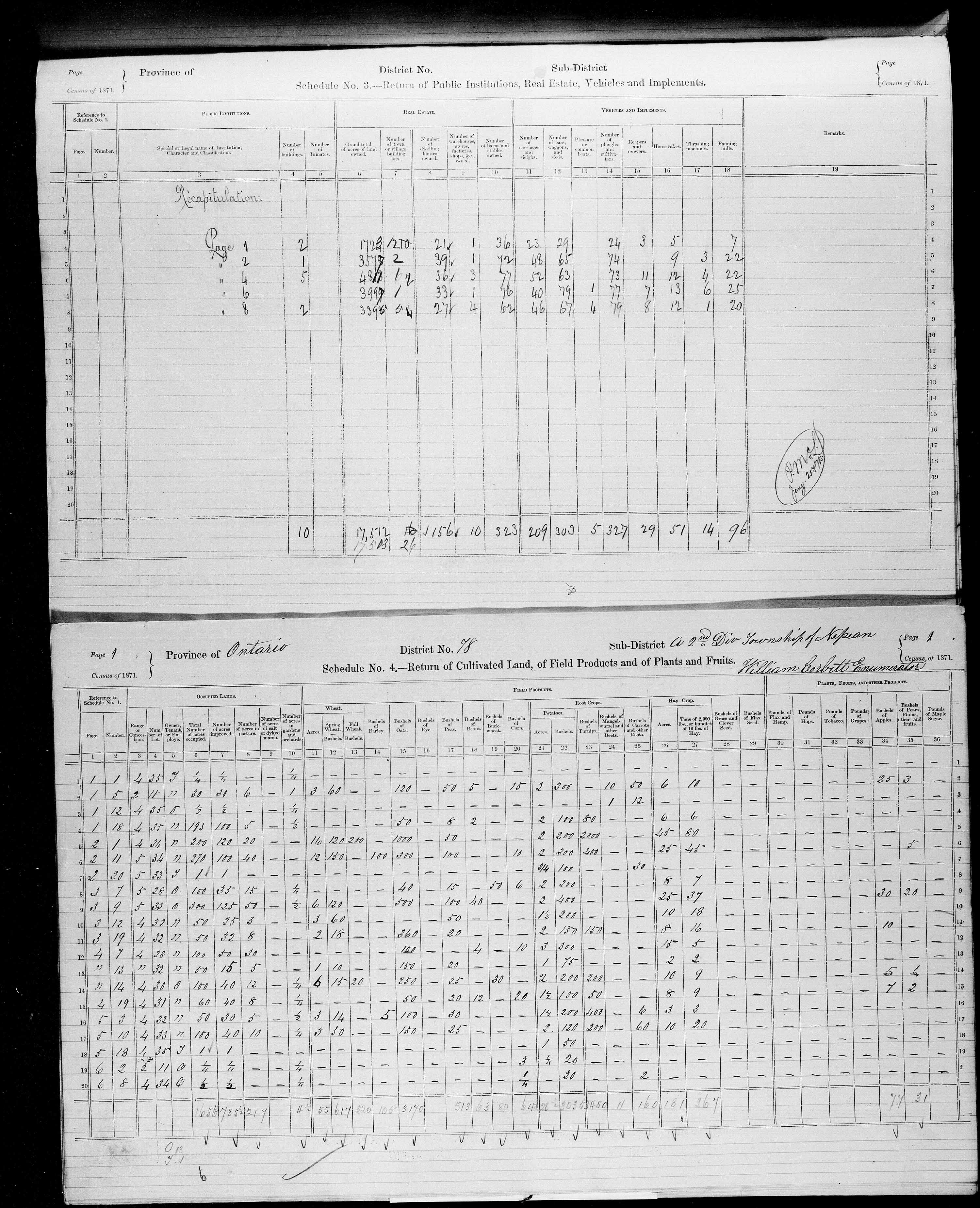 Title: Census of Canada, 1871 - Mikan Number: 142105 - Microform: c-10015