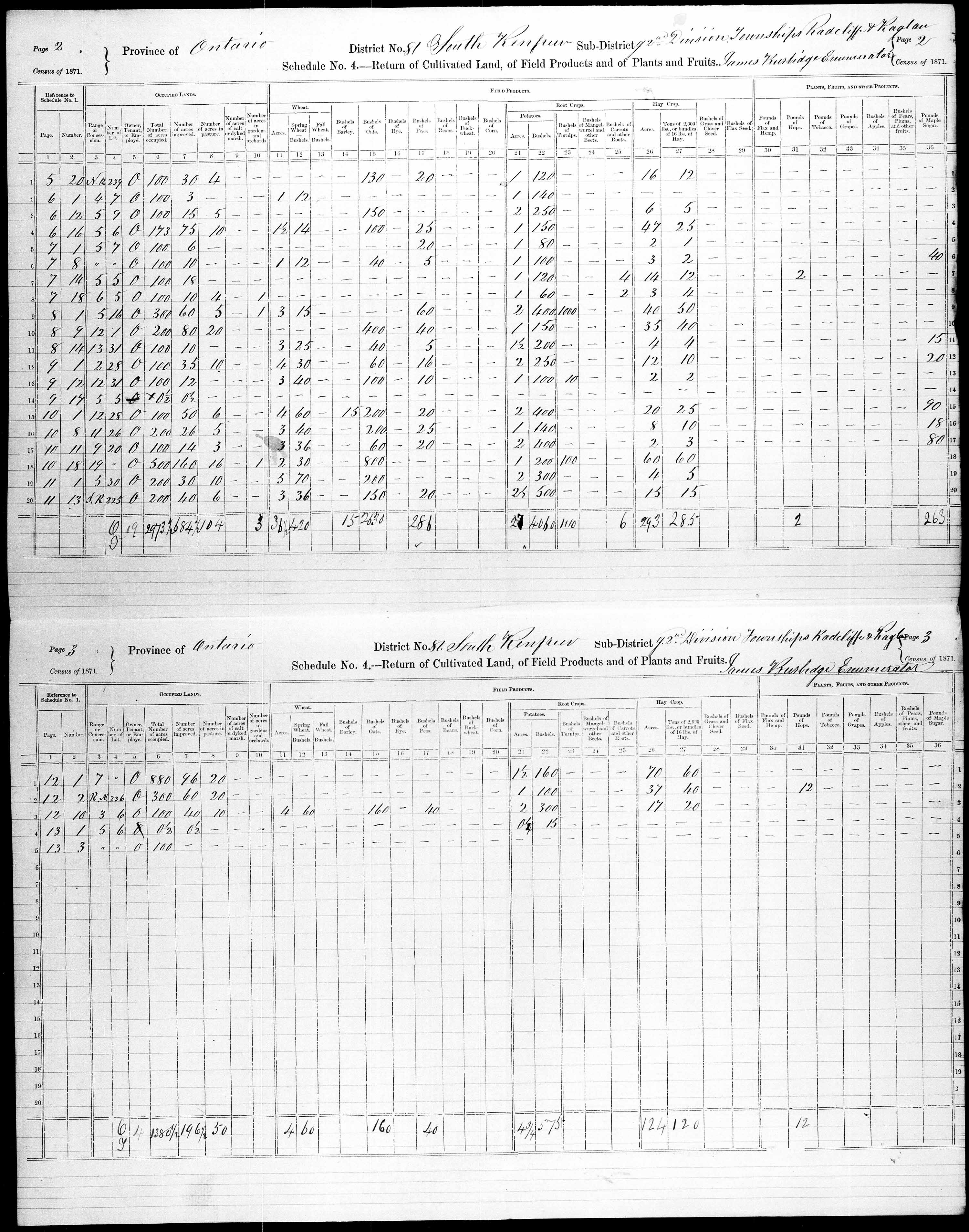 Title: Census of Canada, 1871 - Mikan Number: 142105 - Microform: c-10020