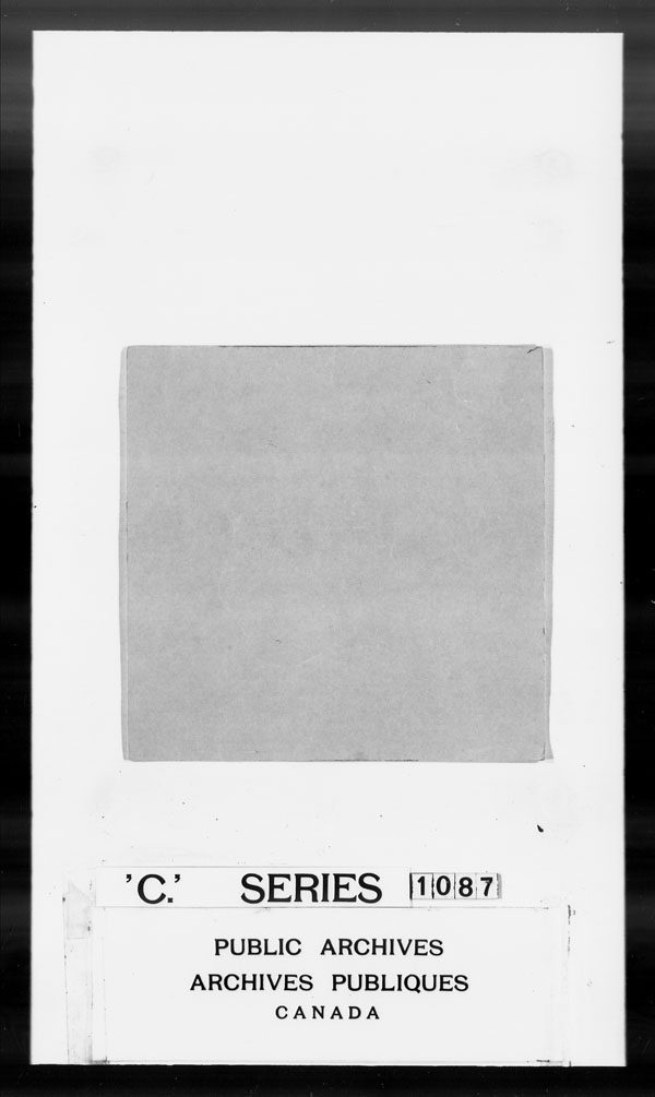 Title: British Military and Naval Records (RG 8, C Series) - DOCUMENTS - Mikan Number: 105012 - Microform: c-1470