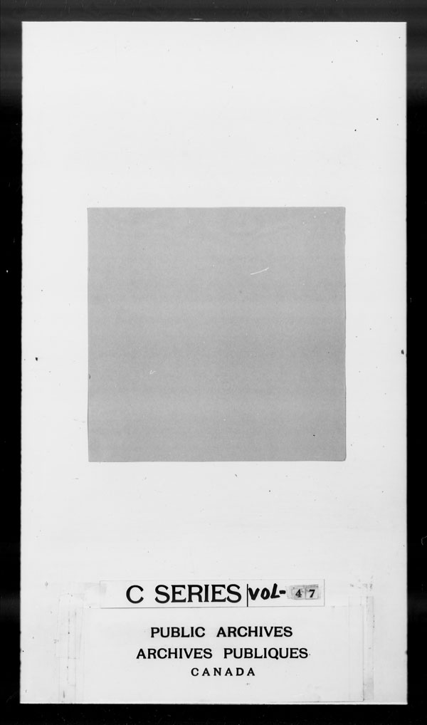 Title: British Military and Naval Records (RG 8, C Series) - DOCUMENTS - Mikan Number: 105012 - Microform: c-2619