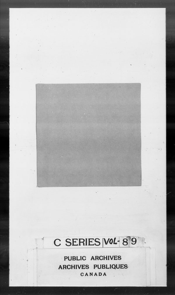 Title: British Military and Naval Records (RG 8, C Series) - DOCUMENTS - Mikan Number: 105012 - Microform: c-2647