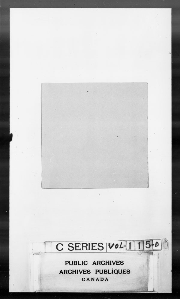 Title: British Military and Naval Records (RG 8, C Series) - DOCUMENTS - Mikan Number: 105012 - Microform: c-2681