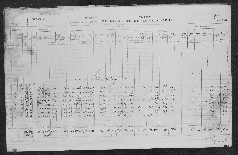 Titre: Recensement du Canada (1871) - N° d'enregistrement Mikan: 194056 - Microforme: c-9897