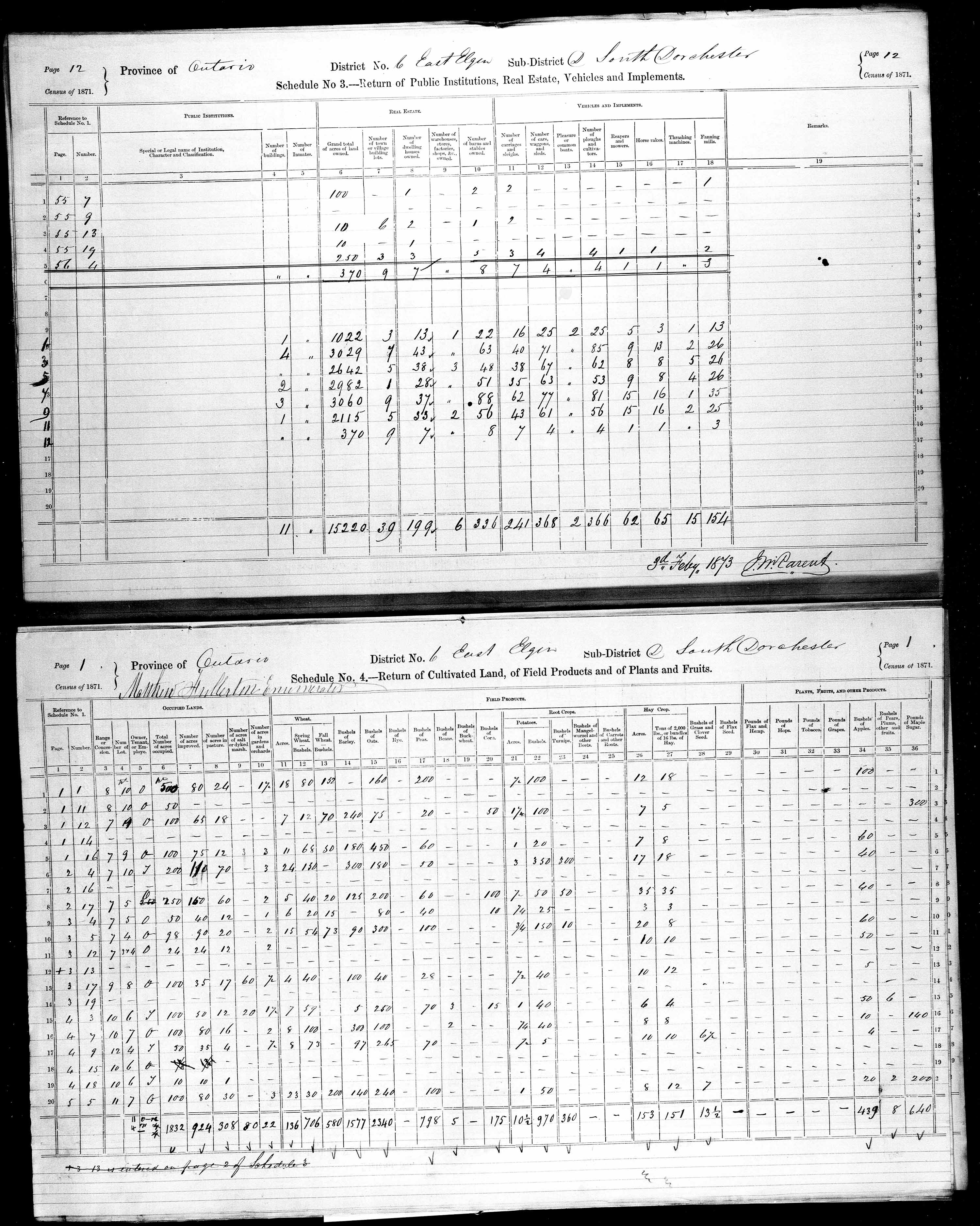 Title: Census of Canada, 1871 - Mikan Number: 142105 - Microform: c-9899
