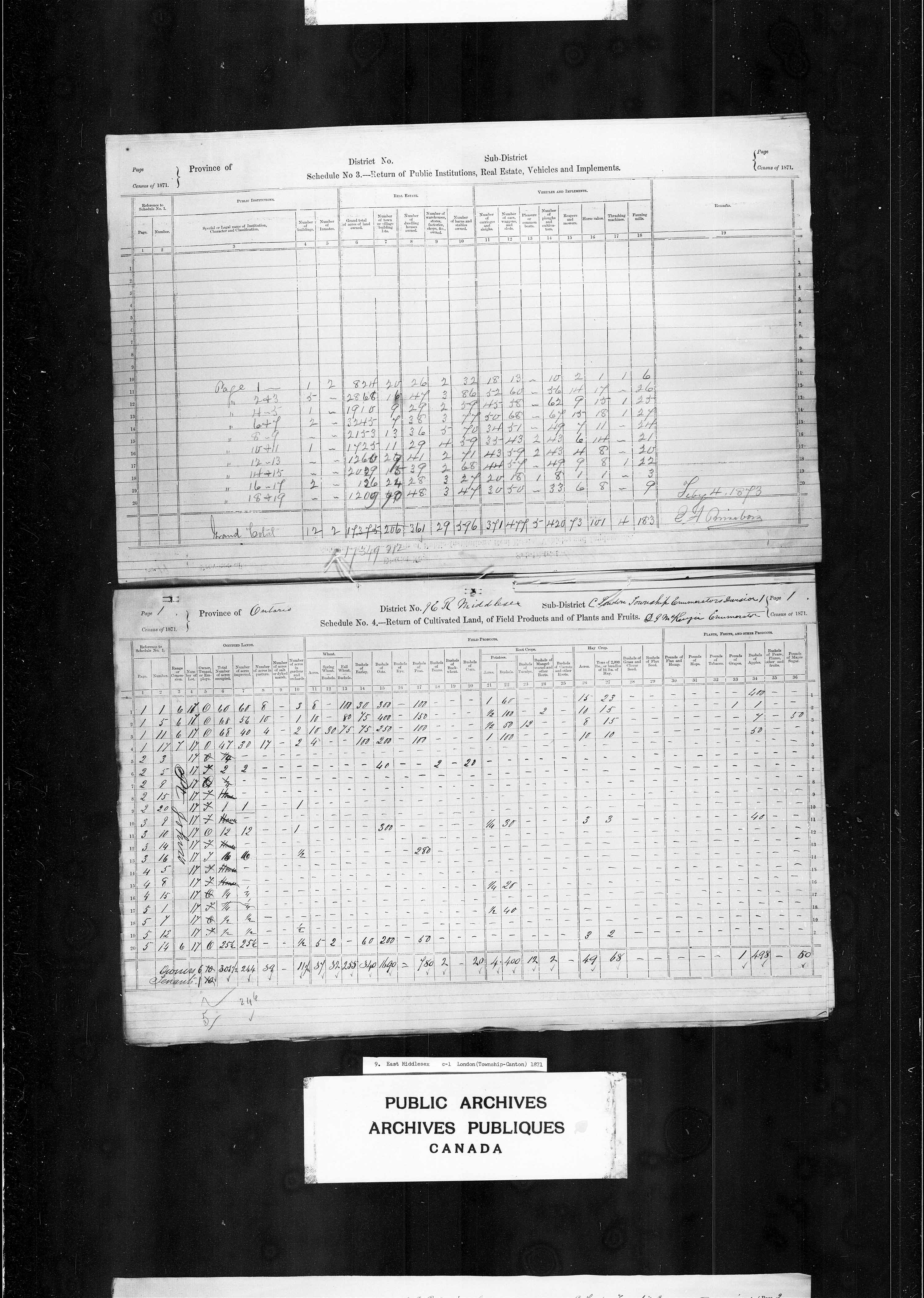 Title: Census of Canada, 1871 - Mikan Number: 142105 - Microform: c-9905