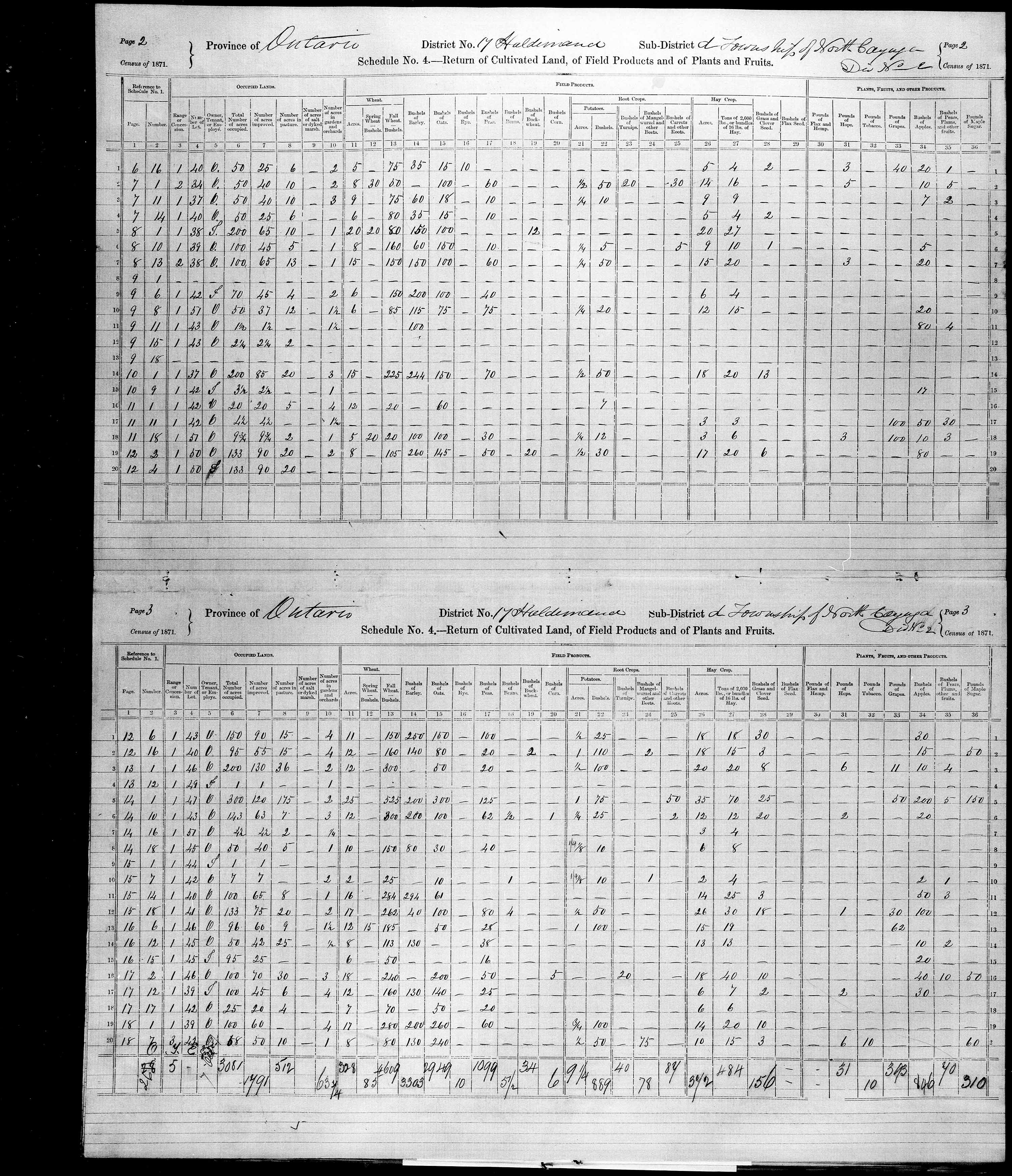Title: Census of Canada, 1871 - Mikan Number: 142105 - Microform: c-9917