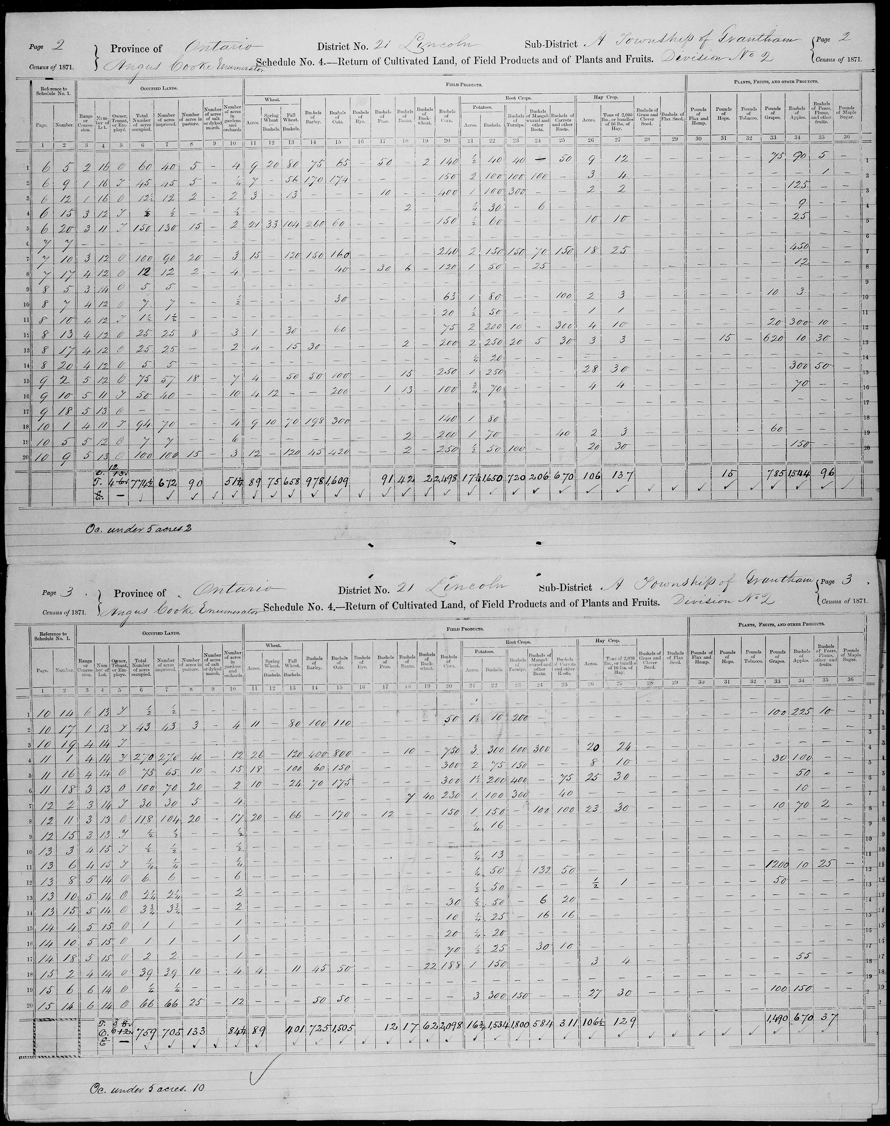 Title: Census of Canada, 1871 - Mikan Number: 142105 - Microform: c-9921