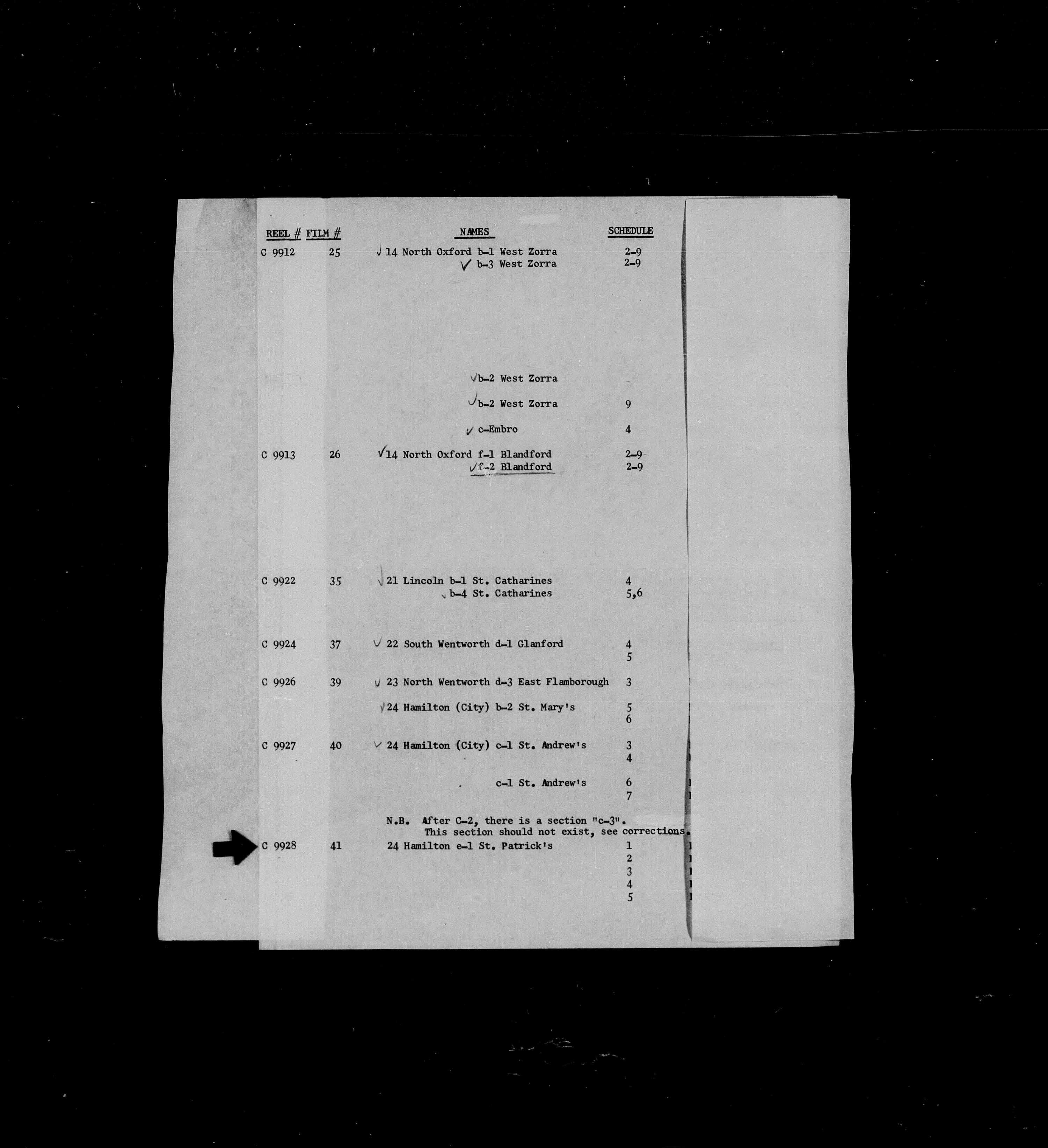 Titre: Recensement du Canada (1871) - N° d'enregistrement Mikan: 194056 - Microforme: c-9928