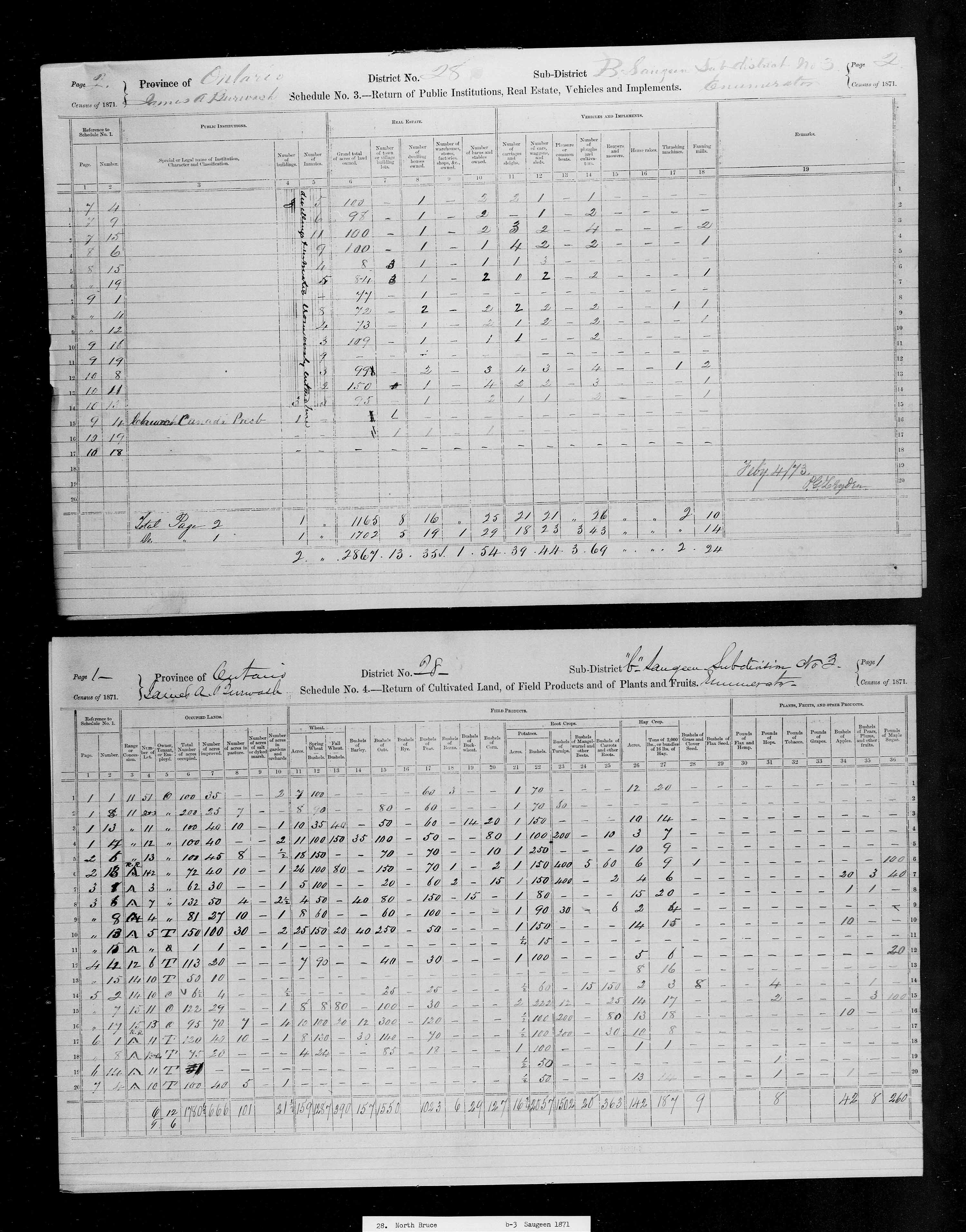 Title: Census of Canada, 1871 - Mikan Number: 142105 - Microform: c-9937