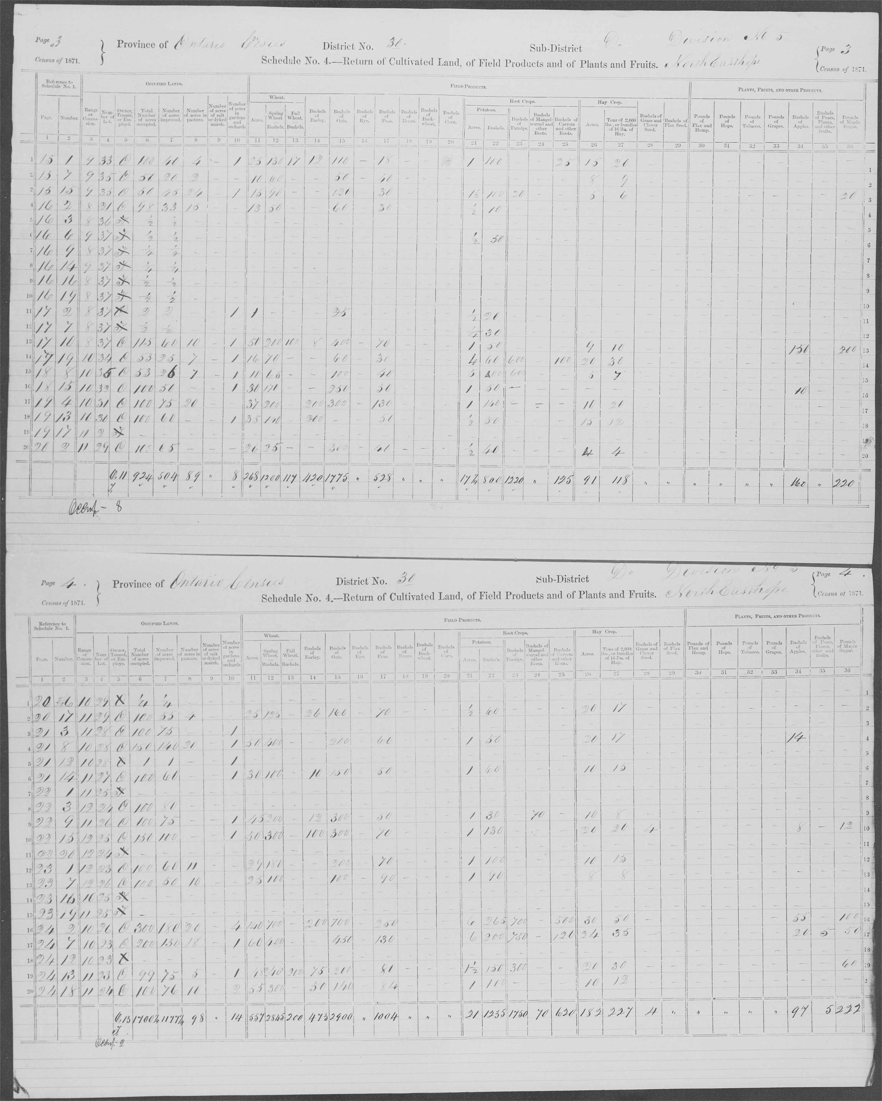 Title: Census of Canada, 1871 - Mikan Number: 142105 - Microform: c-9941