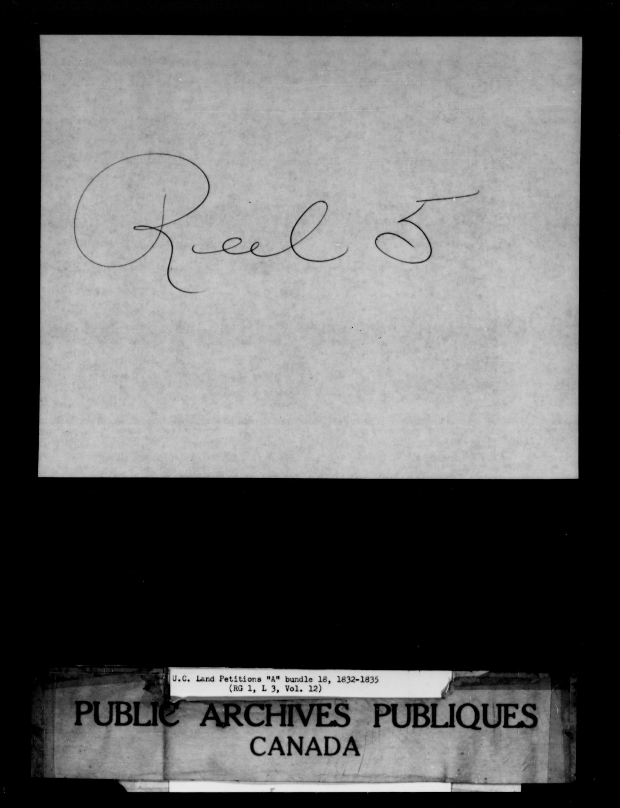 Titre: Demandes de terres du Haut-Canada (1763-1865) - N° d'enregistrement Mikan: 205131 - Microforme: c-1613